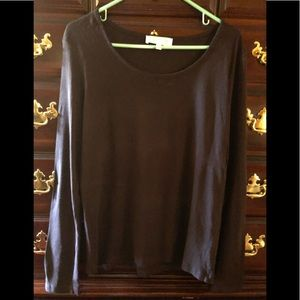 Jones New York Brown L/S Top, Size Large